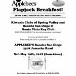 Kiwanis Clubs of Spring Valley & Rancho San Diego & Monte Vista Key Club Applebee's Flapjack Breakfast