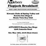 Kiwanis Clubs of Spring Valley & Rancho San Diego & Monte Vista Key Club Applebee's Flapjack Breakfast